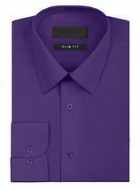 Omega Italy Men's Long Sleeve Slim Fit Purple Dress Shirt w/Defect Medium