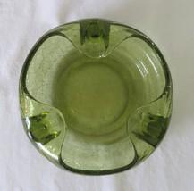 Viking Ashtray, Crackle Glass, Avocado Green, Cigars #27, c. 1960's - 70's - $28.00
