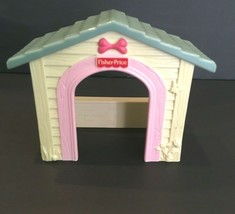 Fisher Price 2005 Loving Family Dollhouse White Dog House Blue Roof H4830 Parts - $9.85