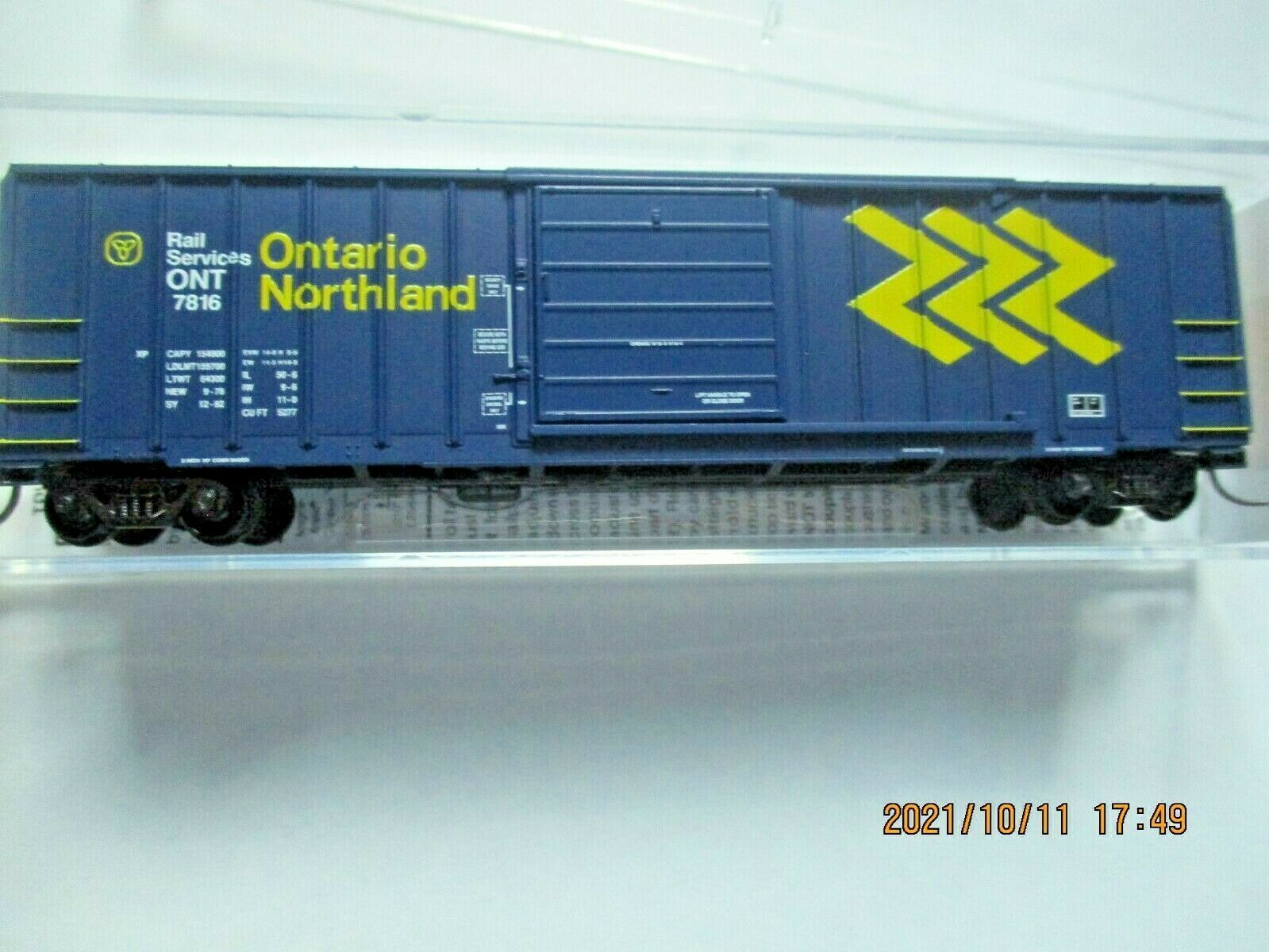 Micro-Trains Stock # 02500206 Ontario Northland 50' Rib Side Boxcar N-Scale