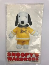 "Vintage Clothes 20"" Snoopy Plush 1975 Fireman Outfit Clothes Yellow Pea... - $24.99"