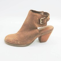 Cole Haan Womens Pippa Ankle Boots Brown Block Heel Slingback Buckle 6 B - $21.07