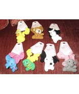 7 NEW PLUSH ANIMAL HAIR SCRUNCHIES FROG DUCK ETC GIRLS CAN USE AS BRACELET - £7.31 GBP