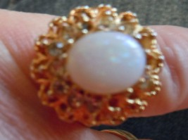 Vintage Napier Opel Look Fashion Ring Size 5 - $5.99