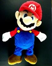 Super Mario Large 22 inch Plush doll figure  Zipper Pajama Pouch NINTENDO  - $24.99
