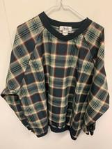 Vintage Izod Plaid 90s Windbreaker Rain Jacket Pullover Mens Large Golf ... - $14.84
