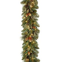 National Tree 9 Foot by 10 Inch Carolina Pine Garland with 27 Flocked Cones and  image 8