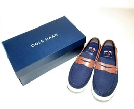Cole Haan Mens Nantucket II Loafers Sz 11.5M Blazer Blue Chestnut Brown C28001 - $54.98