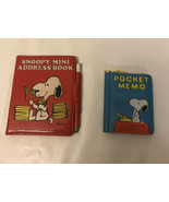 Vintage Butterfly snoopy mini pocket memo and adress book - $24.75