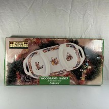"Debbie Mumm Sakura Woodland Santa 3 Section Tray Stoneware SL503/22 16"" ... - $29.69"