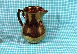 """Vintage Wade Harvest Pottery Copper Luster 5"""" Pitcher - $9.49"""