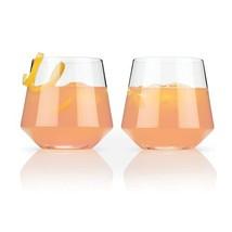 Glass Tumblers, Raye Crystal Cocktail Elegant Insulated Tumbler, Set Of 2 - $28.49