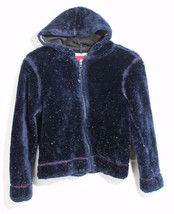Tommy Hilfiger girls vintage youth girls hoodie stuffed jacket blue size... - $28.99