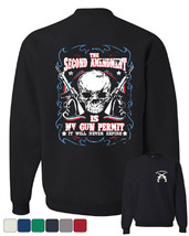 2nd Amendment Is My Gun Permit Crew Neck Sweatshirt Gun Rights - $16.37+