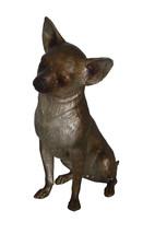 "Sitting Chihuahua Bronze Statue -  Size: 6""L x 15""W x 15""H. - $360.00"