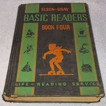 Elson Gray Book Four Basic Reader 1936 Curriculum Foundation Series - $9.95