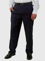 kirkland signature men's wool pleated dress slack Navy new with tags  image 1