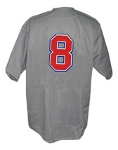 Custom Name # Team Cuba Retro Baseball Jersey Button Down Grey Any Size image 2