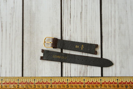 vintage Speidel lizard calf skin leather watch band strap dark brown rep... - $14.84