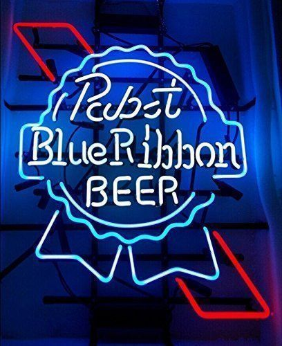 """New pabst Blue Ribbon Beer Lager Bar Pub Neon Sign 24""""x20"""" Ship From USA"""