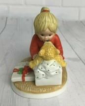 "Vtg Lenox Teddy's First Christmas Teddy and Tiny Tots 4"" Holiday Figurine - $18.69"