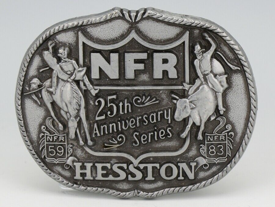NFR 25th Anniversary Series Hesston Belt Buckle First Edition