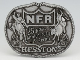 NFR 25th Anniversary Series Hesston Belt Buckle First Edition image 1