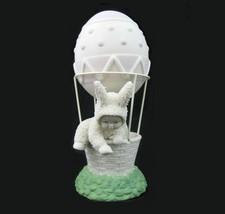 Dept56 Snowbunny Easter Egg Air Balloon Figurine Come with Me Vtg Snowba... - $17.81