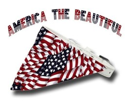 Tiny Dog White Collar Small US Flag Bandana MADE IN USA America the Beautiful - $18.25