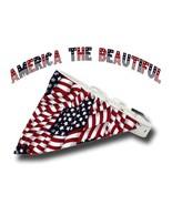 Tiny Dog White Collar Small US Flag Bandana MADE IN USA America the Beau... - $18.25