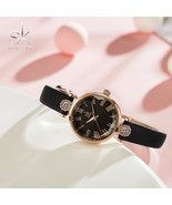 SK® Watches Luxury Women's Watches Quartz Leather Strap Clock Crystal Di... - $24.06