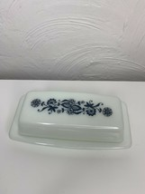 Vintage Pyrex Butter Dish Old Town Blue Onion Pattern Retro Kitchen Ware - $23.36
