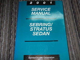 2001 Chrysler Sebring & Dodge Stratus Sedan Service Shop Repair Manual Oem - $89.09