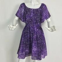 Cynthia Steffe Dress silk purple batwings casual carer size 4 - $44.99