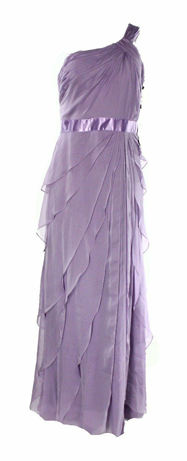 2733-2  Adrianna Papell Lilac Womens Tiered Ball Gown Dress Purple 10  $199