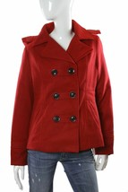 American Rag Short Hooded Button-Up Lined Jacket Red Size Large  NWT - $34.64