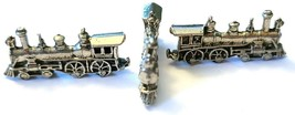 TRAIN ENGINE FIGURINE CAST WITH FINE PEWTER - Approx. 1 1/4 inch Long (T163) image 2