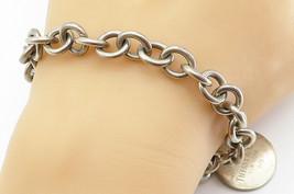 TIFFANY & CO 925 Silver - Vintage Minimalist Round Link Chain Bracelet -... - $121.83