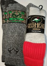 2 pair RedHead & 2 FREE Realtree Finest Merino Wool Blend Socks, USA, 4 ... - $39.59