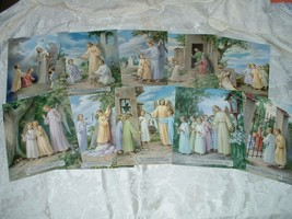 "Traditional Catholic TEN COMMANDMENTS Set of 10 Pictures 8x10"" from Italy - $23.36"