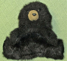 "FOLKMANIS BABY BLACK BEAR PUPPET FULL BODY FURRY PLUSH 10"" BLACK HAND PU... - $11.88"