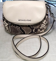 MICHAEL KORS LEATHER BEDFORD FLAP CROSSBODY BAG Embossed leather Natural - $98.01