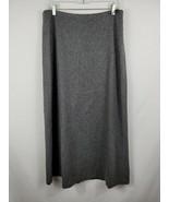 Gap Virgin Wool Blend Boot Skirt Gray Long Length Fully Lined Women's Si... - $11.88