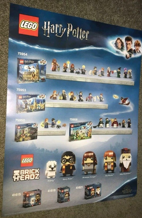 LEGO HARRY POTTER MINIFIGURES DOUBLE SIDED POSTER