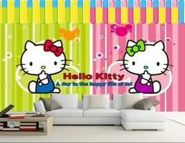 3D Rosa Katze 277 Fototapeten Wandbild Fototapete BildTapete Familie - $52.21+