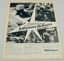 1968 Print Ad Johnson Outboard Motors Family Having Fun Fishing - $14.60