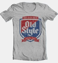 Old Style Beer T-shirt Heilemans vintage style cotton blend grey graphic tee image 2
