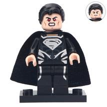 Superman Black Custom Minifigures Toy Building Figure Super Heroes - $3.45