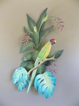 "Large Parrot Wall Hanging  Metal   31 x 23"" Coastal Decor image 2"