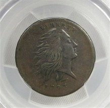 1793 1C Wreath Large Cent PCGS Vine & Bars Edge AC300 - $5,773.80